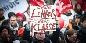 GEW-Demonstranten